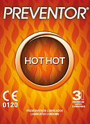 Preventor Hot Hot, a ultra thin lubricated condom with a special lubricant that gives a hot sensation.