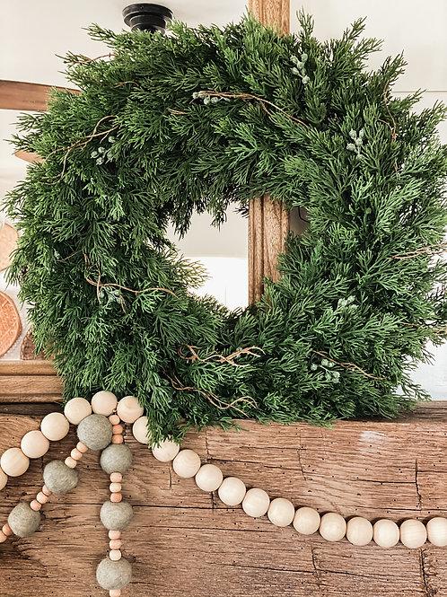 Dripping Cedar Wreath
