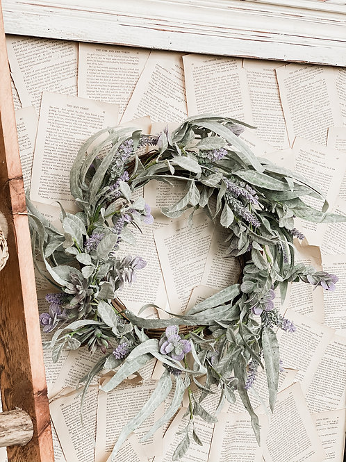 Lifting Lilac Wreath