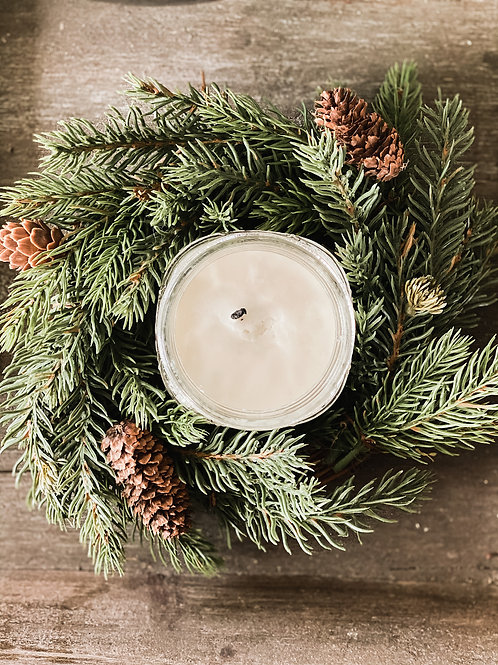 White Spruce Candle Ring