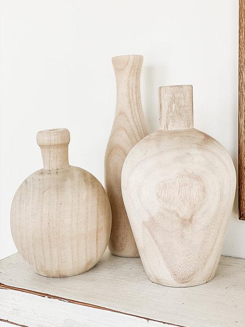 Paulownia Set of Vases