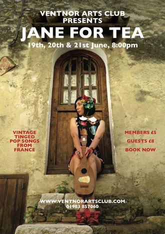 JANE FOR TEA AT VENTNOR ARTS CLUB / ISLE OF WIGHT JUNE 19,20,12 TH