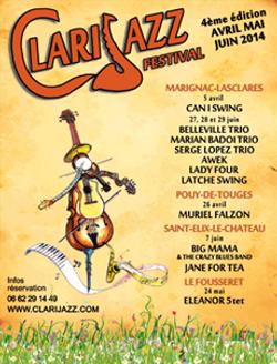 FESTIVAL CLARIJAZZ 7 JUIN 2014