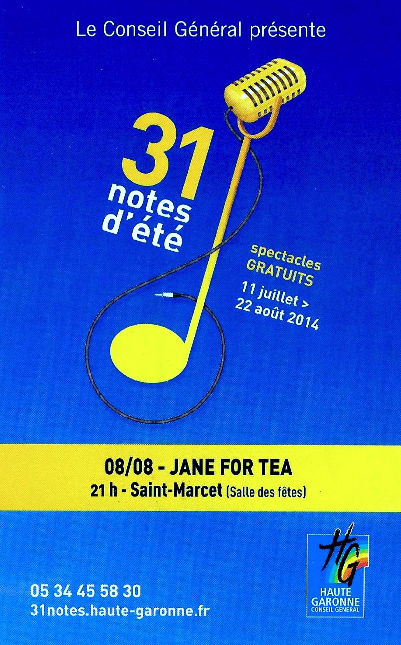 FESTIVAL 31 NOTES D'ETE 2014