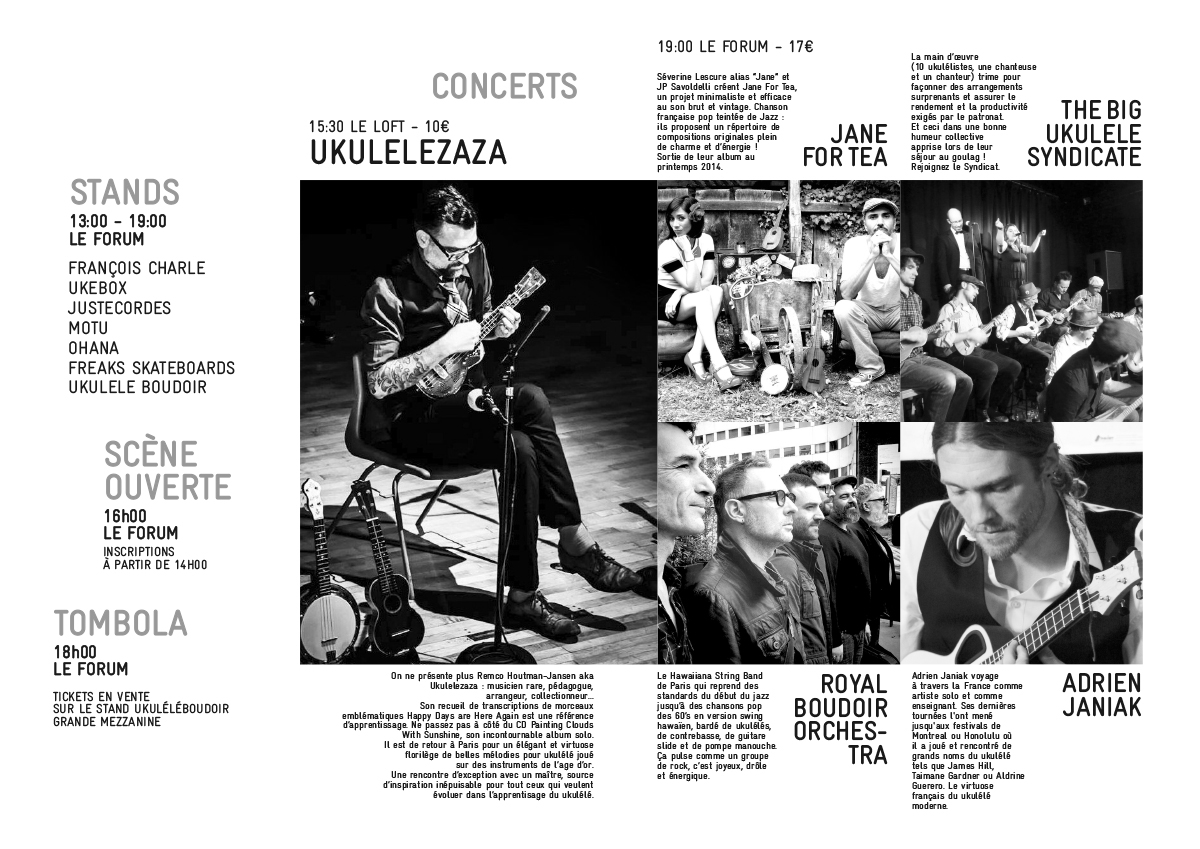 PROGRAMME PARIS FESTIVAL UKULELE 2014p1