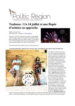 POLITIC REGION Toulouse 14 JUILLET 2016