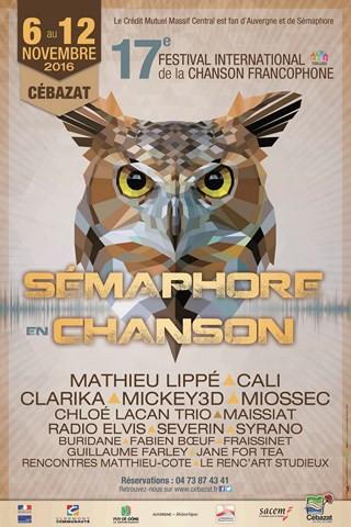 FESTIVAL SEMAPHORE EN CHANSON 2016 / 1ere PARTIE CALI