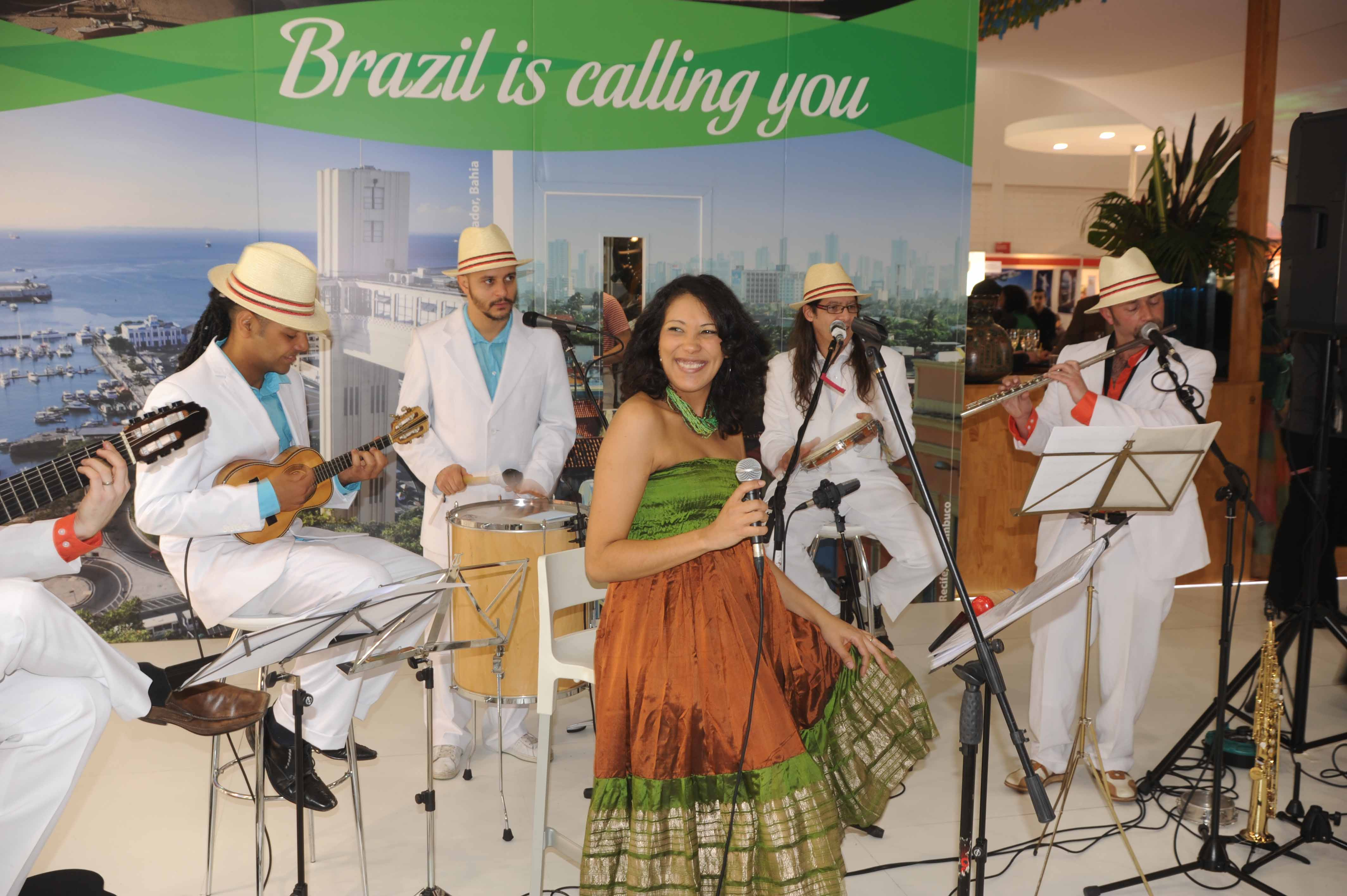 SambaViva performing at World Travel Market 02