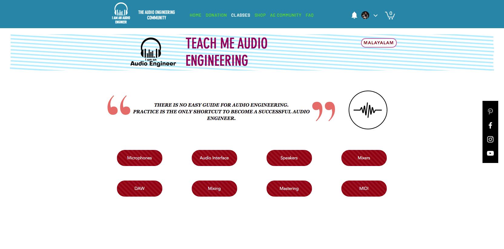 Audio engineering classes