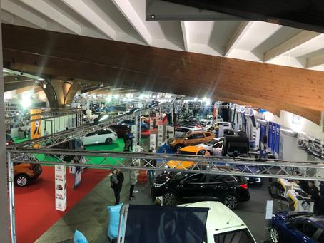 Installation des stands du Salon de l'Auto 2018 d'Epinal