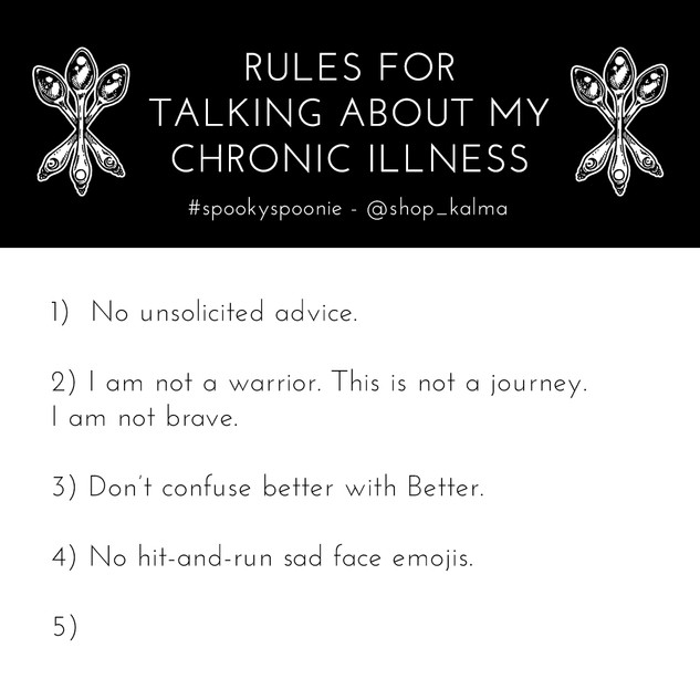 RULES FOR TALKING ABOUT MY ILLNESS