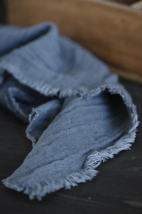 Serviett dobbeltvevet bomullsstoff - blå