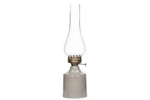 Gammeldags lampe til telys i emalje- Sandfarget