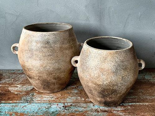 Urne/potteskjuler i keramikk - brun