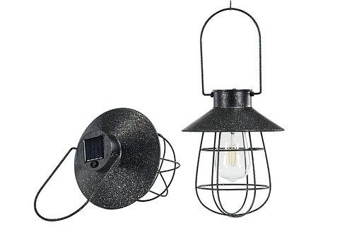 Hengelykt med solcelle/LED-lys  svart