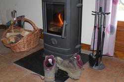 The wood burner