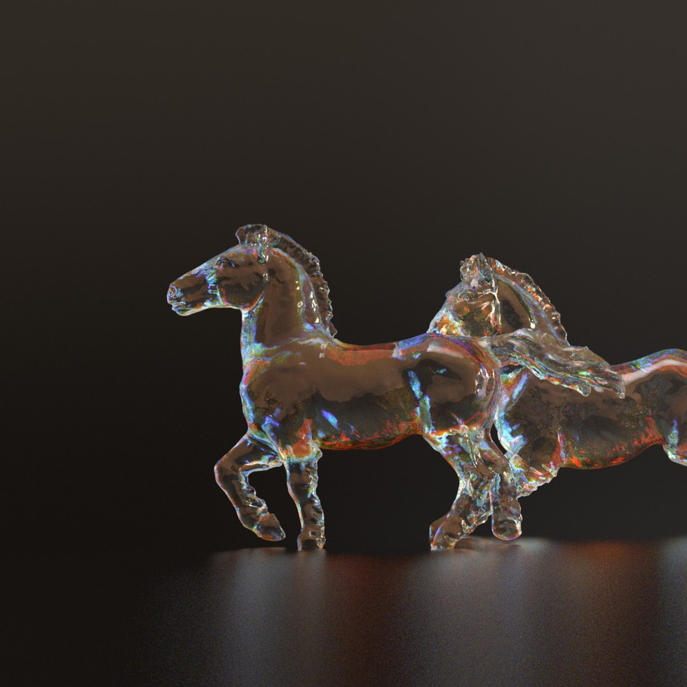 COLORFUL GLASS WITH JUST 1 CLICK IN REDSHIFT!