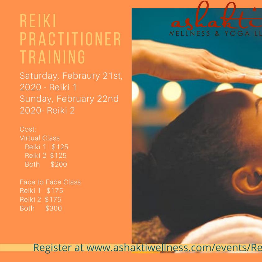 Reiki 1 & 2  Practitioner Training -ONLINE/FacetoFace