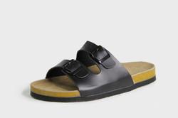Black slider sandal