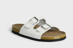 White sandal slider