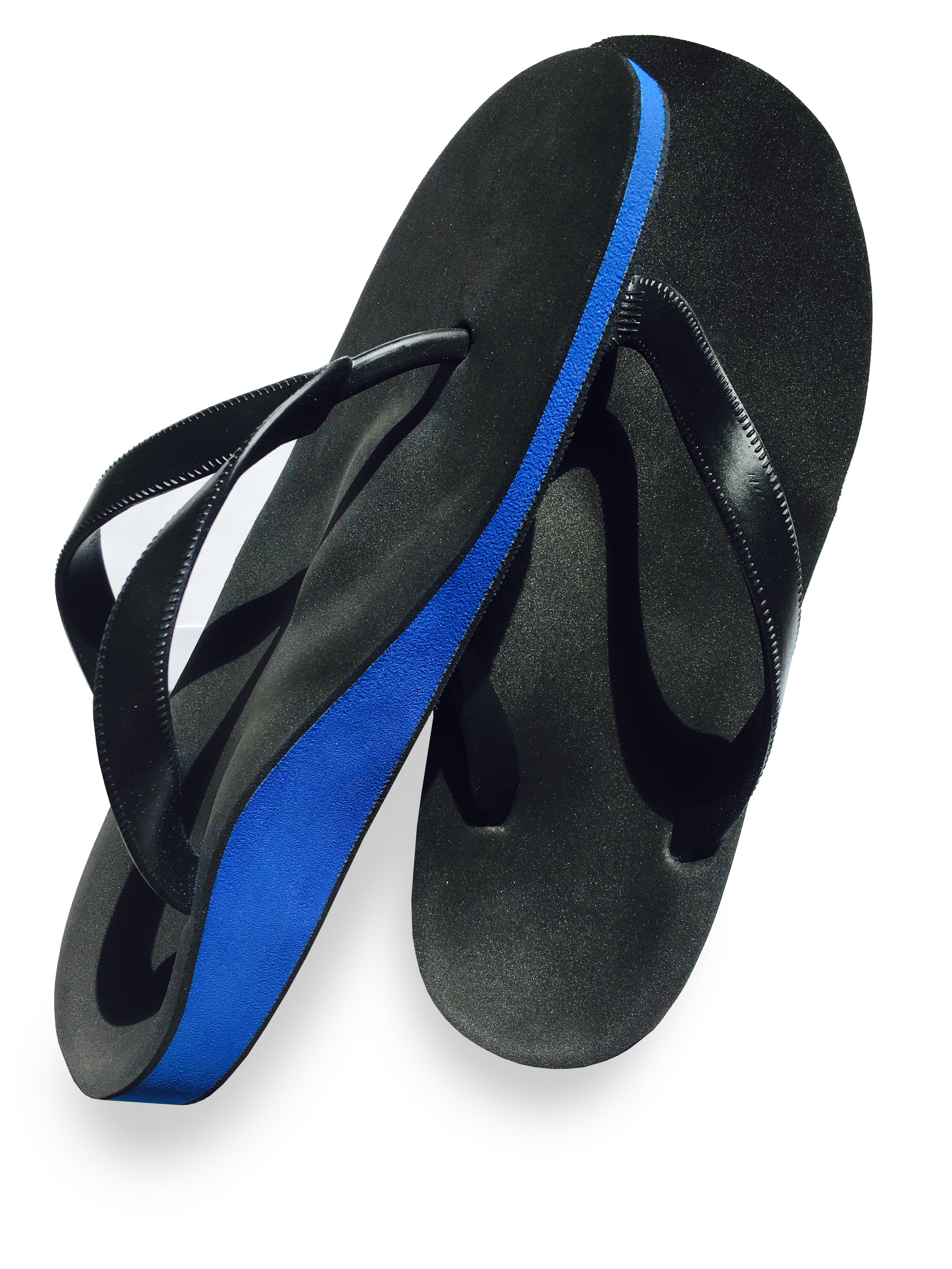 Flip flop blue black
