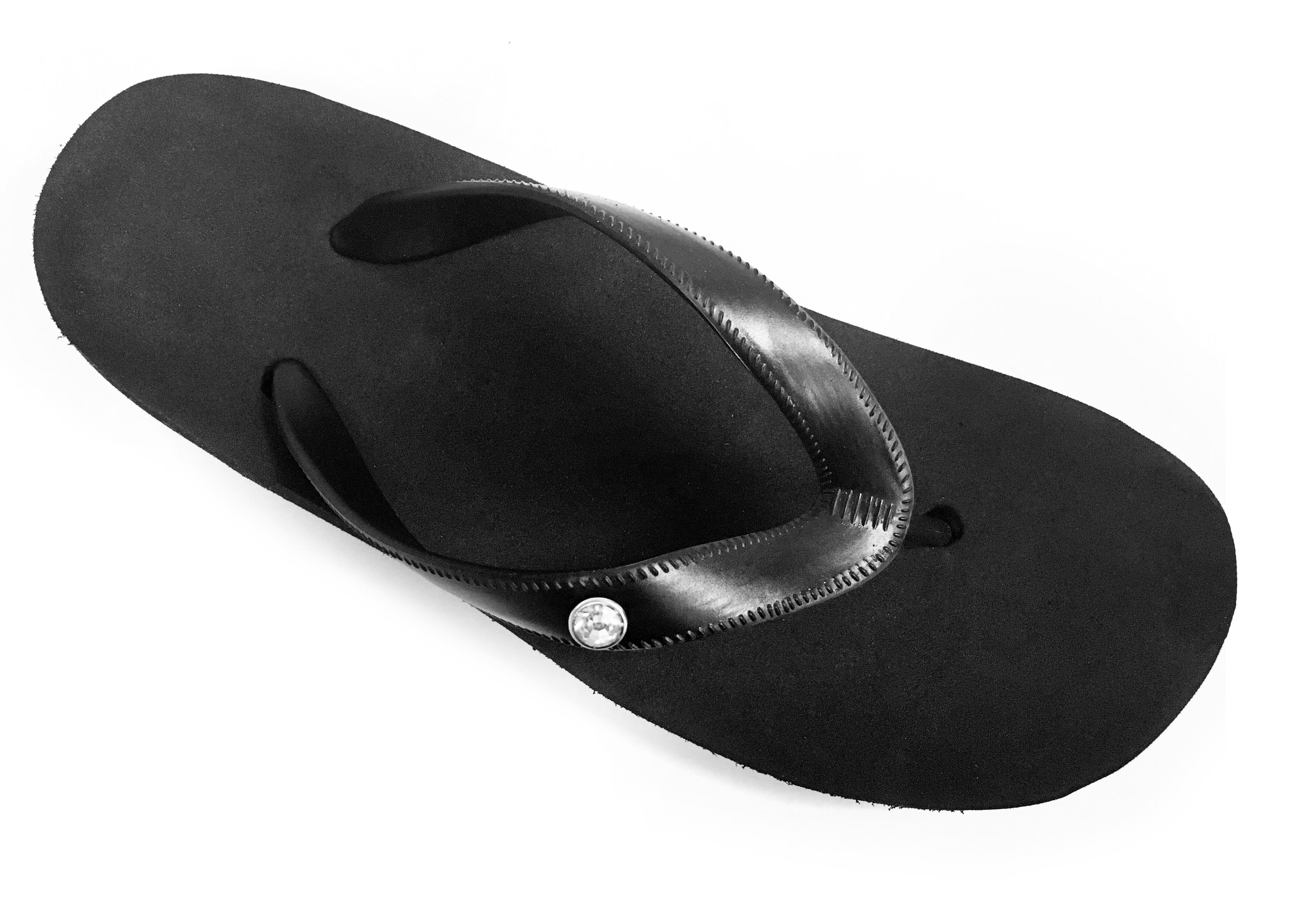 Flip flop diamante - black