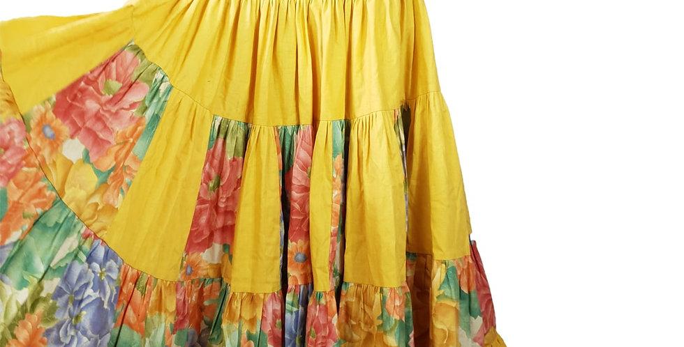 Jupe provençale jaune volumineuse