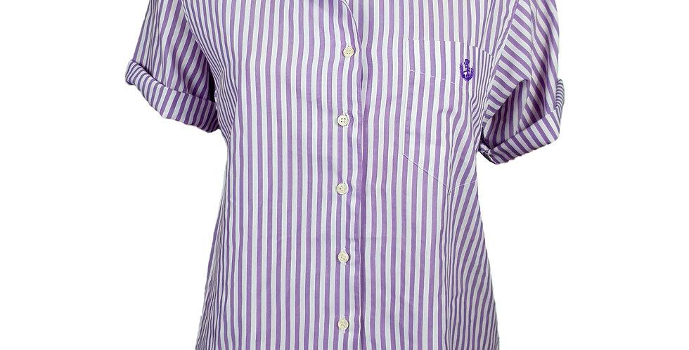 Chemisette rayée violette