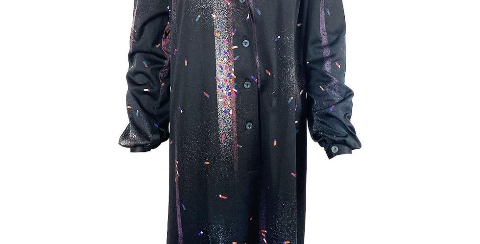 Robe noire confettis