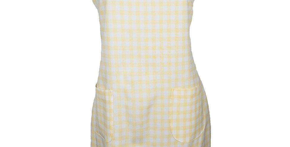 Robe trapèze vichy jaune