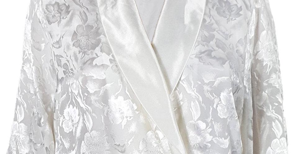 Chemise satinée cache-cœur / kimono