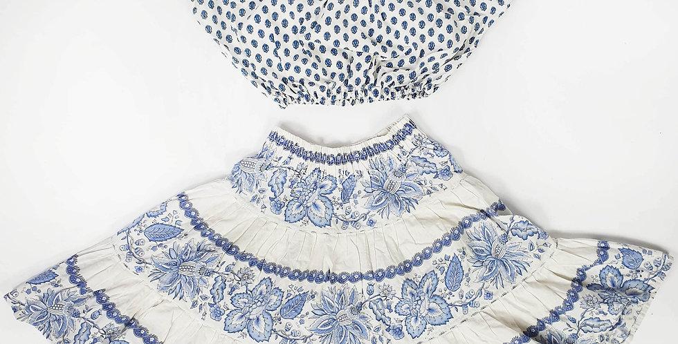 Ensemble provençal bleu et blanc