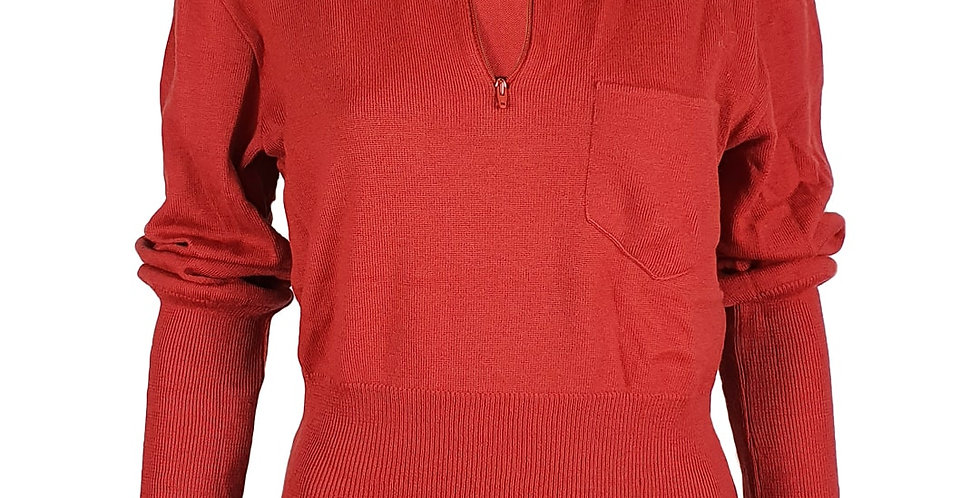 Pull sweat rouge/rouillle