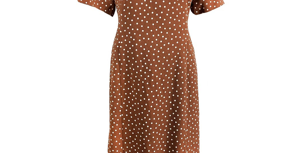 Robe cintrée marron polka dot