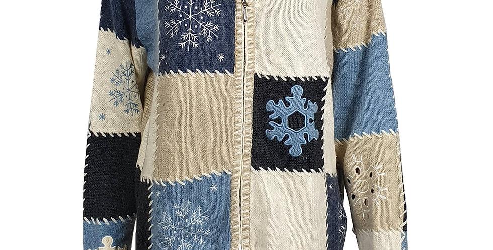 Cardigan patchwork d'hiver