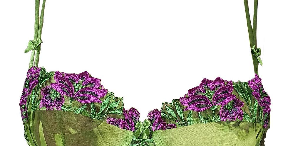 Ensemble luxueux vert et violet - Lise Charmel