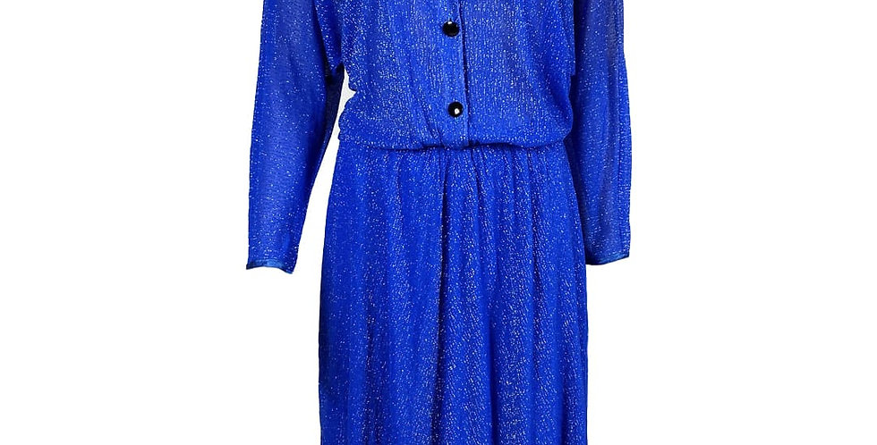 Robe bleue argentée transparence