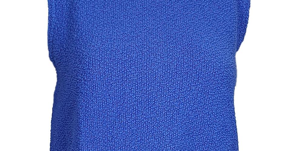 Crop top éponge bleu roi