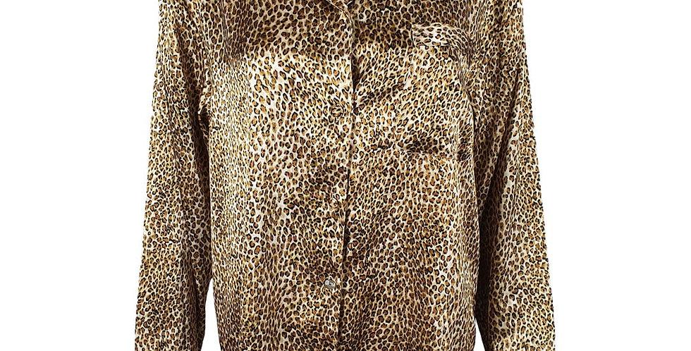 Chemise léopard satinée