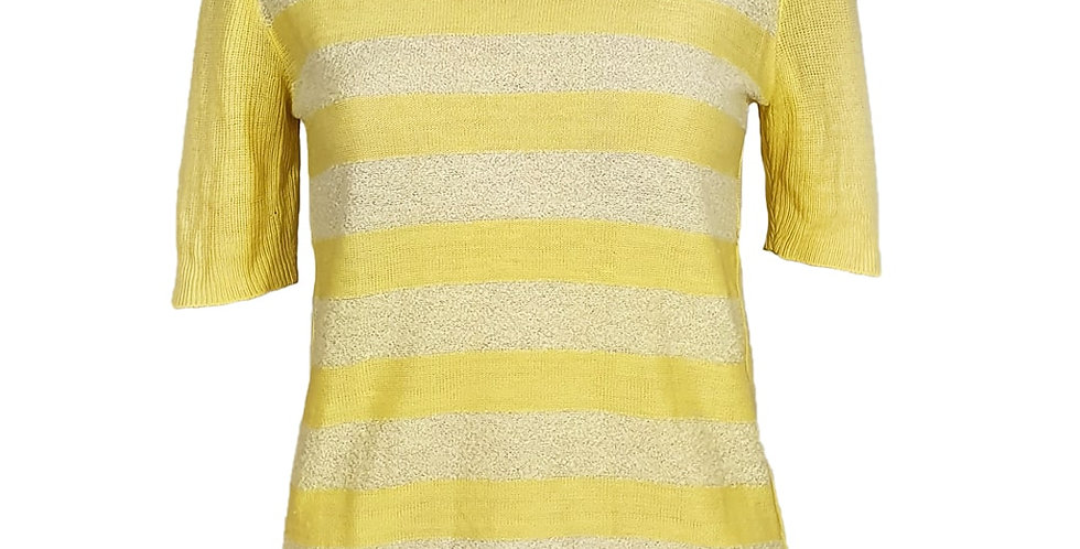 Débardeur tricot jaune pastel 70's