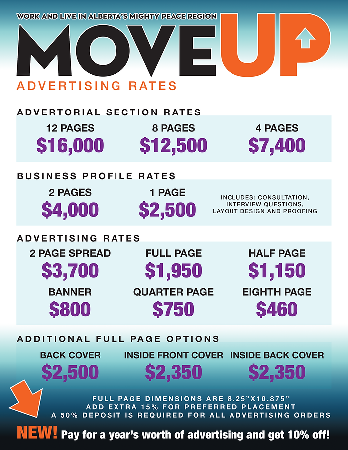 Move Up Magazine Rate Card
