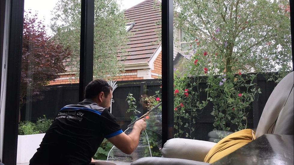 Inside window cleaning in Christchurch