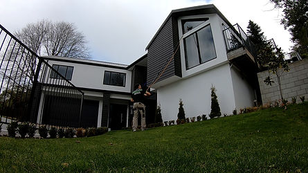 Exterior home window cleaning via telescopic carbon fiber pole and pure water in Christchurch