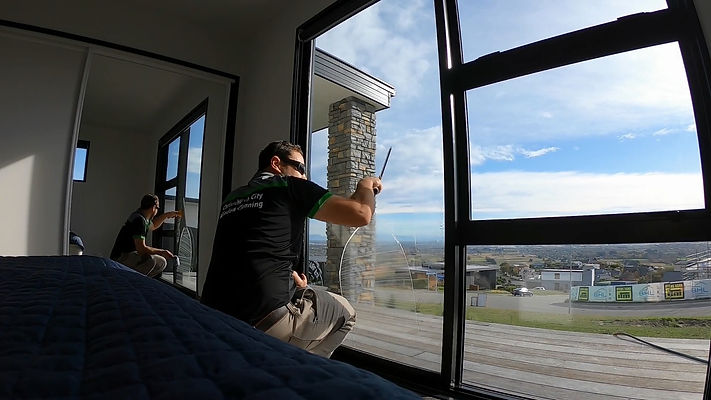 inside home window cleaning in Christchurch
