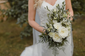 Classic Green and White Bouquet with a twist