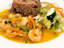 Shrimp and Jamaican Rice and Beans