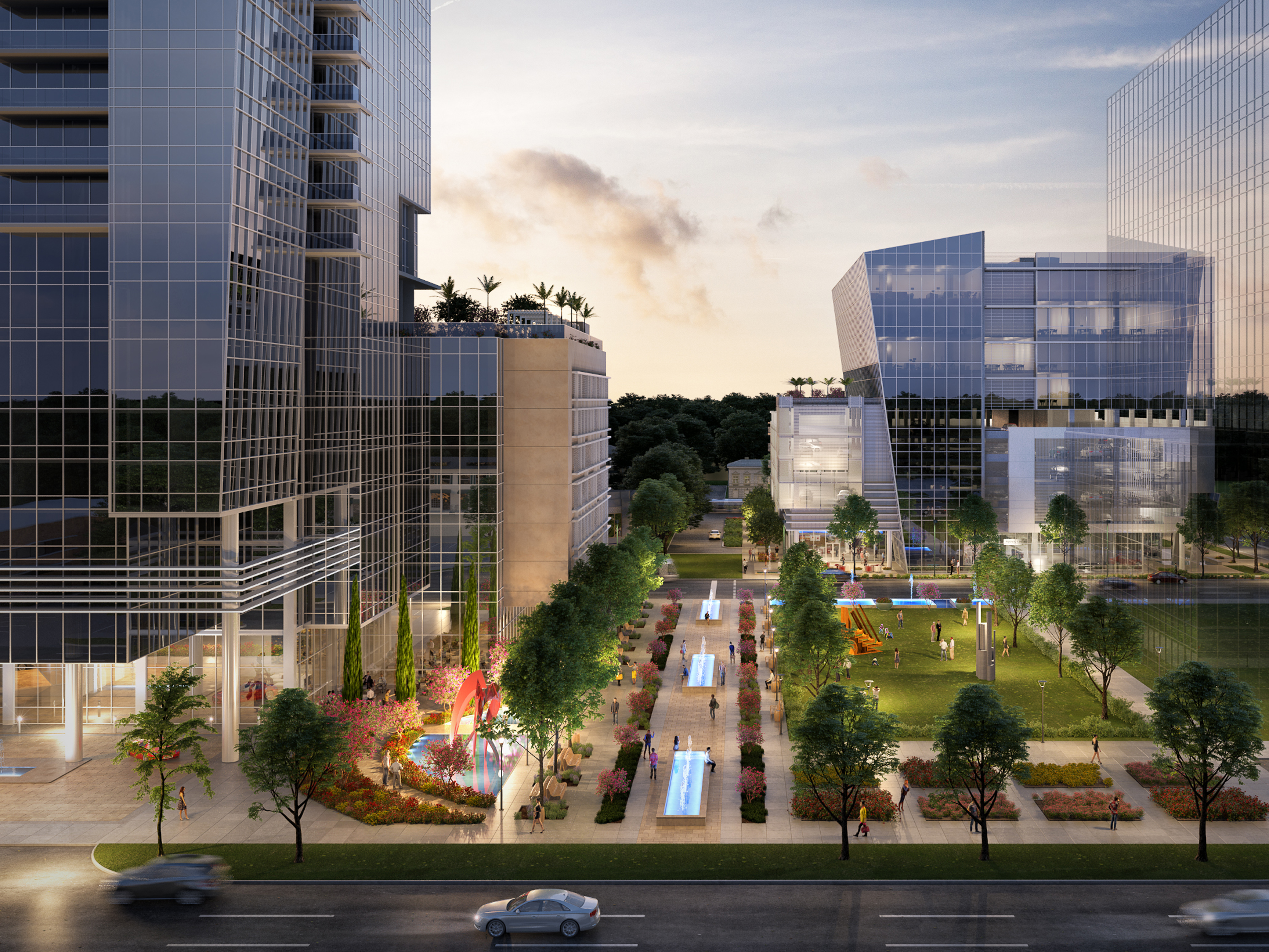 MOB Plaza view