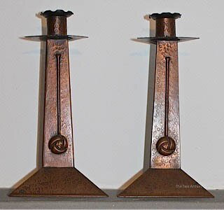 Hayle Copper Candlesticks - SOLD