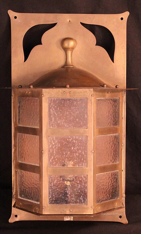 Arts and Crafts/Art Nouveau Birmingham Guild of Handicraft BGH Brass Lantern