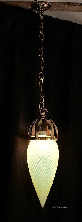 Brass/Vaseline Glass Light Benson style - SOLD